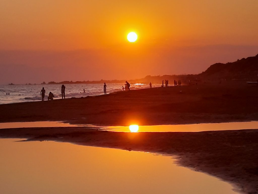 Sonnenuntergang Urlaubsfoto
